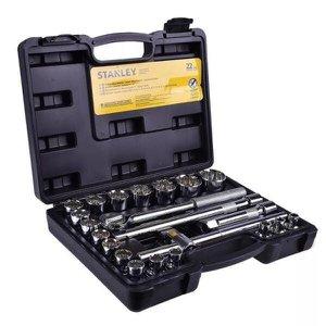 """Jogo de Soquetes Stanley, Encaixe ½"""", 22 peças, 8 a 32mm - STMT81242-840"""