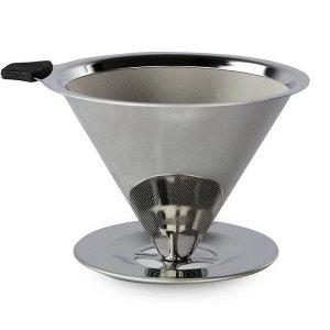 Coador de Cafe ACO INOX Reutilizavel Medio Unyhome UD190166