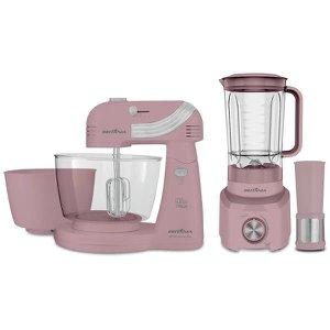Kit Cozinha Britânia Cristal Pink BKT21 220V