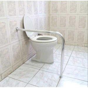 Barra de Apoio para Vaso Sanitário em L 60x70 cm em Alumínio