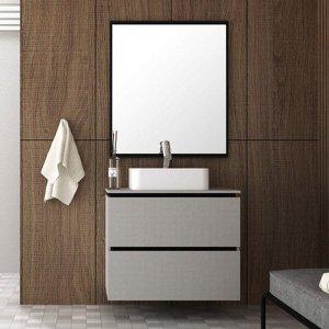 Conjunto para Banheiro com Espelheira e Gabinete com Cuba Urban Móveis Bosi