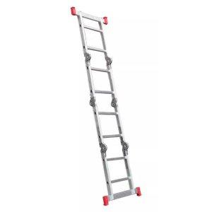 Escada Articulada Multifuncional 8 Degraus em Alumínio 13 posições Botafogo
