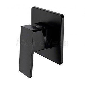 Misturador Monocomando para Ducha Chuveiro 1/2 Banheiro Mix1B Preto - Máxima Metais