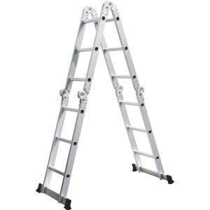 Escada de Alumínio Multifuncional 3x4 12 Degraus Isadora Design
