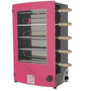 Churrasqueira Elétrica Rotativa Progás Revolution PRR-051 EN, 5 Espetos, Vermelha