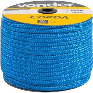 Corda Trançada Seda 150 Metros 10mm Cor Azul Arteplas