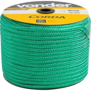 Corda Seda Trançada Verde 10mm Com 100 Metros Arteplas