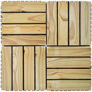 Deck de Madeira Modular Base Plástica Isabela Revestimentos 30cm x 30cm (Placa)