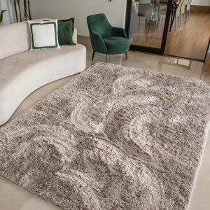 Tapete para Sala Luxo Confort Peludo Retangular Cinza Casen 140x100cm