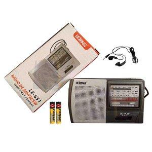 Mini Rádio de Bolso AM/FM/SW LE-651- Lelong + 2 Pilhas