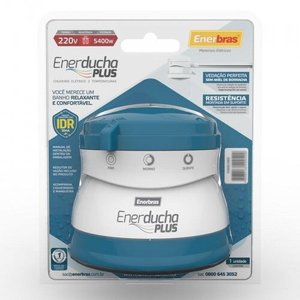 ENERDUCHA PLUS AZUL CLARO 220/5400W - ENERBRAS 3002-E/AC5