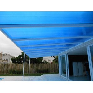 Chapa de Policarbonato Alveolar Azul 2,10x6,00 6 Milímetros