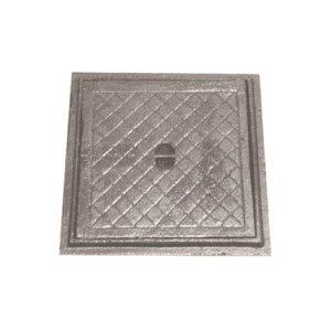 Tampa Tampão de Chão Simples Ferro Fundido Inspeção 50x50cm
