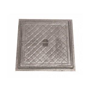 Tampa Tampão Chão Articulado Ferro Fundido Inspeção 20x20cm