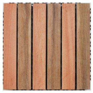 Deck de Madeira Base Plástica Isabela Revestimentos 30x30cm (Placa)