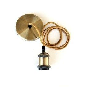 Pendente Soquete Metal Dourado 1 x E27 - CTB
