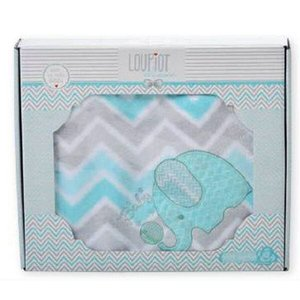 Cobertor para bebê Bordado - 90x110cm - Classic Loupiot - Azul