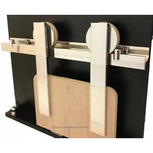 Kit Porta De Correr Roldana Aparente trilho Alumínio Polido:2,5 mt