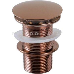 Válvula de escoamento Click para Cuba de banheiro Iguatemi - Dourado Rose