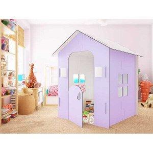 Casinha Infantil Lilás com iluminação em LED - Malu Decor