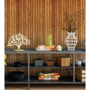 Papel de parede estilo madeira em tons de caramelo marrom e cinza + Kit Aplicação completo