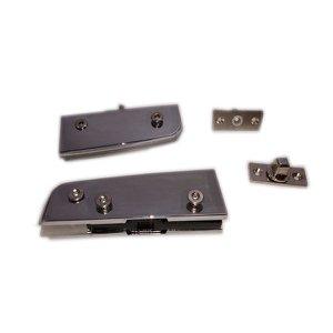 Kit dobradiças para porta pivotante de vidro temperado blindex - opção mola