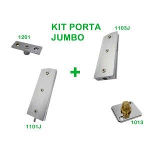 Kit instalação Jumbo para porta de vidro pivotante