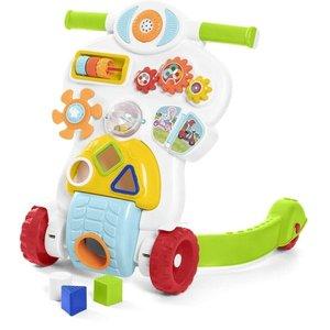 Andador Infantil Para Bebê Educativo 2 Em 1 Com Som E Luz