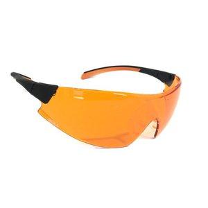 Óculos Proteção UNIVET 546 Laranja Bloqueador De Luz Azul Escuridão Virtual BLUE CONTROL DENTISTAS L