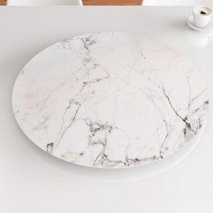 Prato Giratório de Mesa 70 cm MDF - Cor Carrara