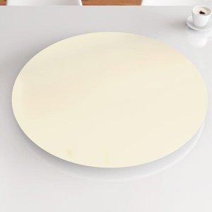 Prato Giratório de Mesa 70 cm MDF - Cor Off White