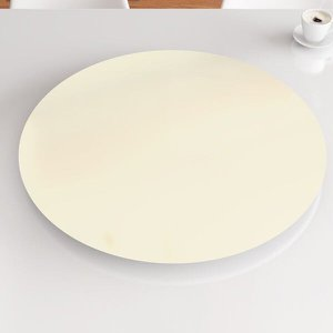 Prato Giratório de Mesa 80 cm MDF - Cor Off White