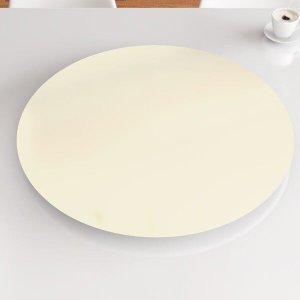 Prato Giratório de Mesa 90 cm MDF - Cor Off White