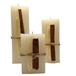 Conjunto com 3 Velas Quadradas Decorada Canela e Trigo - 2