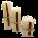 Conjunto com 3 Velas Quadradas Decorada Canela e Trigo - 1