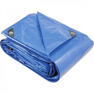 Lona reforçada de polietileno azul 6 m x 3 m Vonder PLUS