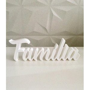 Palavra Família impressão 3D