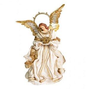 Anjo Natalino Celestial com Asas Douradas