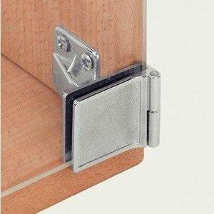 Dobradiça para Porta de Vidro com Espessura máxima de 5mm