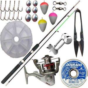 Kit Completo Para Pesca Barato Vara Com Acessórios