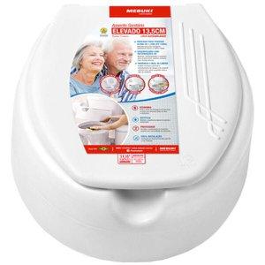 Assento Sanitário Elevado 13,5cm Branco - Mebuki
