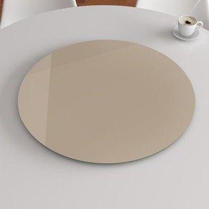 Prato Giratório de Mesa 100cm Vidro Temperado - Fendi - EXTRA CLEAR BLINDEX 8mm - Malu Decor
