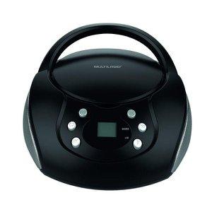 Caixa De Som Rádio Fm Multilaser Usb/cd Sp337 20 W RMS Preto Bivolt