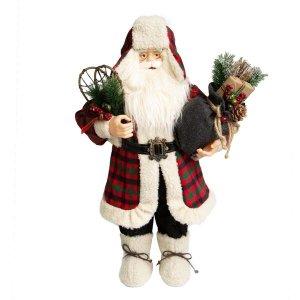 Papai Noel Magic Tradicional Lenhador com 60cm de Altura  Linha Natal Encantado Formosinha
