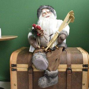 Papai Noel Laminador Sentado Branco com 60cm de Altura  Linha Natal Encantado Formosinha