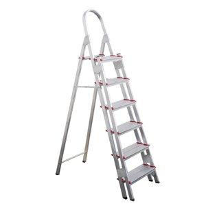 Escada de Alumínio Super Reforçada Profissional de 6 Degraus