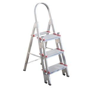 Escada de Alumínio Super Reforçada Profissional de 3 Degraus