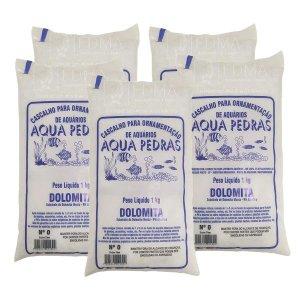 Substrato Dolomita para Aquários e Jardins Decoração N°0 5kg