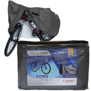 Capa Cobrir Bicicleta Bike Protetora Forrada Impermeável Elástico nas Bordas até Aro 29 Carrhel