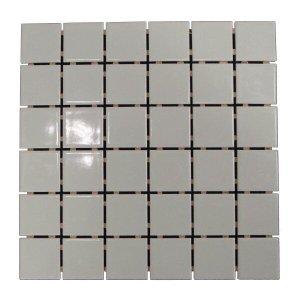 Pastilha de Porcelana Ritmo Platina Brilhante 5x5 01m²